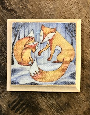 "Handwerk magneet ""Winter Fox"