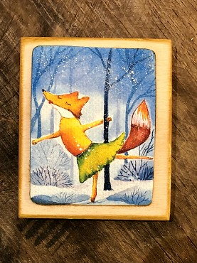 "Handwerk magneet ""Winter Fox"""